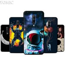 Astronaut Space Outer Silicone Case for Oneplus 7 7Pro 5T 6 6T Black Soft Case for Oneplus 7 7 Pro TPU Phone Cover