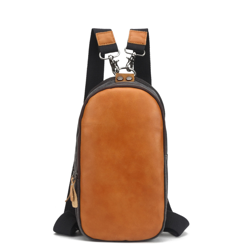 Men Simple Style Travel Backpack Bag With Crazy Horse Leather Canvas Laptop Backpack Vintage College Casual School Bags H057 new gravity falls backpack casual backpacks teenagers school bag men women s student school bags travel shoulder bag laptop bags