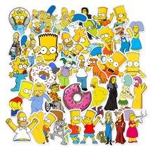 50 teile/los Lustige Anime Cartoon Simpsons Graffiti Aufkleber Für Auto Moto & Koffer Coole Laptop Aufkleber Skateboard Kinder Aufkleber
