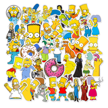 50pcs/Lot Funny Anime Cartoon Simpsons Graffiti Stickers For Car Moto & Suitcase Cool Laptop Stickers Skateboard Kids Stickers