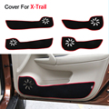 Car Styling Door Protector Side Edge Protection Pad For Nissan X-Trail 3th 2014 2015 Protecter Anti-kick Mat Free Shipping