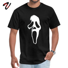 Necronomicon Rapper Sleeve Tops T Shirt Mother Day Round Collar Pure Cotton Men SCREAM MASK Tshirts Rife
