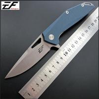 Eafengrow faca dobrável ef37 d2  lâmina g10  bolso  para caça ao ar livre  acampamento  facas  sobrevivência  ferramenta edc