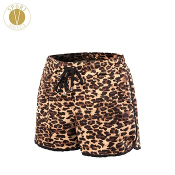 Leopard Print Drawcord Sports Shorts Women's Training Running Gym Outdoor Stylish Cheetah Elastic Stretch Fit Shorts Plus Size 1