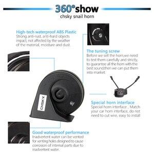 Image 5 - CHSKY Car Horn Snail Horn For Hyundai Solaris 2015 12V Loudness 110db Loud Car Horn High Low Klaxon Claxon Horns Car styling