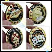 Monedas conmemorativas Metal banquero porker star Card Guard Protector Metal artesanía Poker fichas juego holdem Accesorios