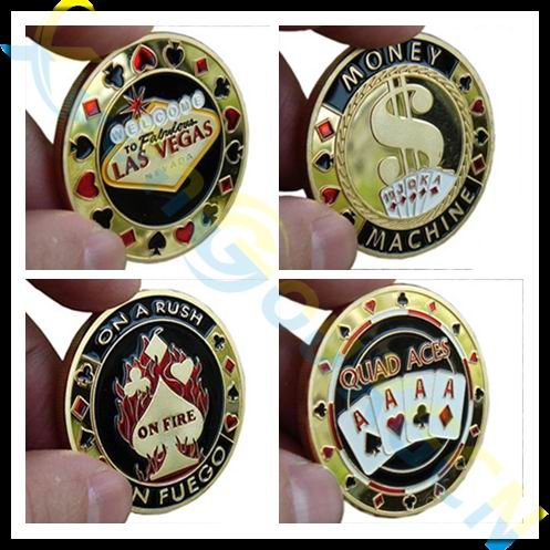 Commemorative Coins Metal Banker Porker Star Card Guard Protector Metal Craft Poker Chips Poker Game Hold'em Accessories