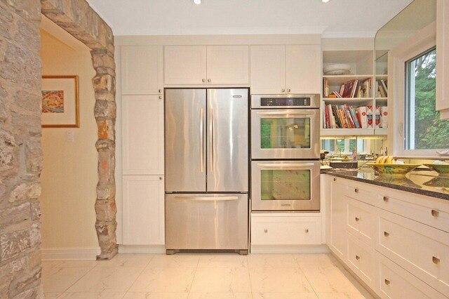 2017 Tradisional Kayu Solid Kabinet Dapur Desain Baru Putih Armadio Da Cucina S1606032 Mebel