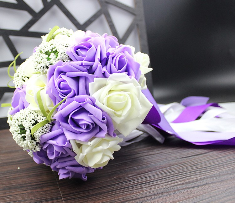 Wedding Bouquet de mariage Bridal Bouquet Wedding Bouquet Bridesmaid Artificial flower Boeket buques de noivas Bruidsboeket (8)