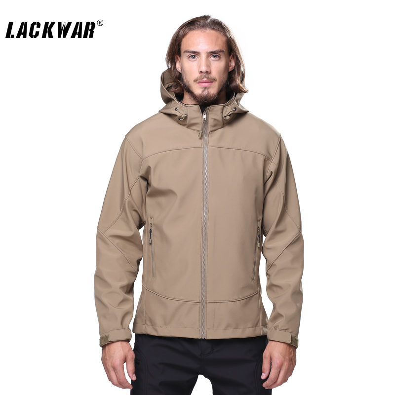 ФОТО LACKWAR Brand Outdoor Hiking Hunting Jackets Climbing Clothes Men Jackets Tactical Coat Waterproof Softshell Jackets LYF0093