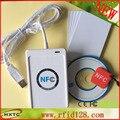 HF-13.56MHZ Escritor ACR122U NFC Lector de Tarjetas Inteligentes USB Tarjeta de Apoyo ISO14443 Tipo A y B con SDK libre + 5 UNIDS Tarjeta