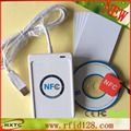 USB  HF-13.56MHZ Smart NFC  Card Reader Writer  ACR122U Support  ISO14443 Type A & B Card with free SDK+5PCS Card