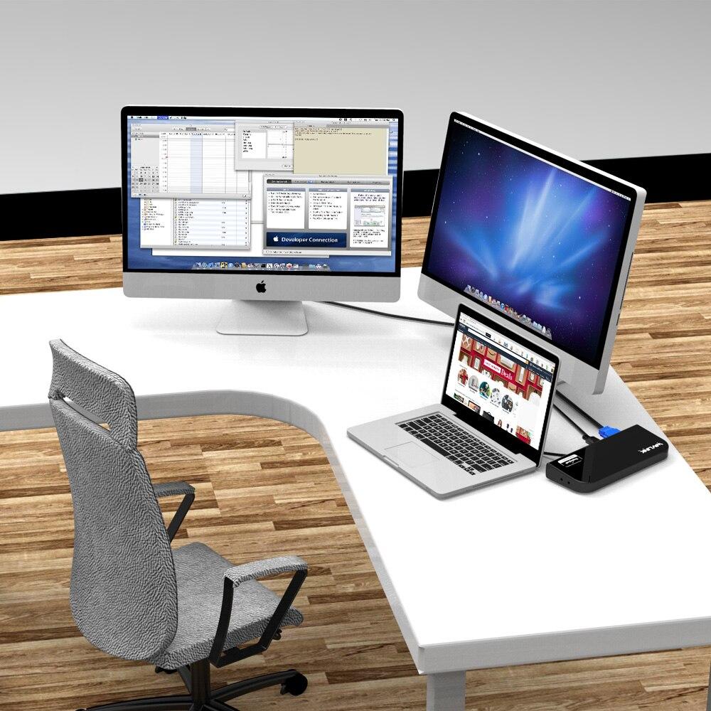 Estación de acoplamiento UNIVERSAL USB 3,0 Pantalla de MONITOR de vídeo DUAL HDMI y DVI/VGA GIGABIT ETHERNET AUDIO 6 puertos USB para tableta portátil - 6