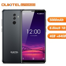 OUKITEL K8 4G 64G Android8.0 Mobilephone Octa çekirdekli 5000 mAh 6 ''18:9 Ekran Çift Arka Kamera yüz KIMLIK Parmak Izi Akıllı C...