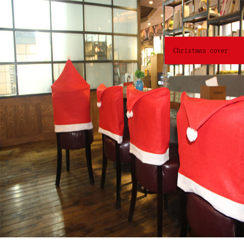 New Design Christmas Decoration Hat Christmas Home Decor Christmas Chair Cover Dining Room Chair Cover