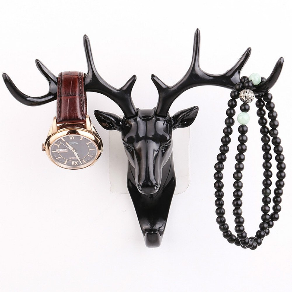 Multi Wall Decor Hooks Antlers American Style Household Multi-purpose Wall Coat Keys Bags Clothes Hook + Wash Cloth Clip