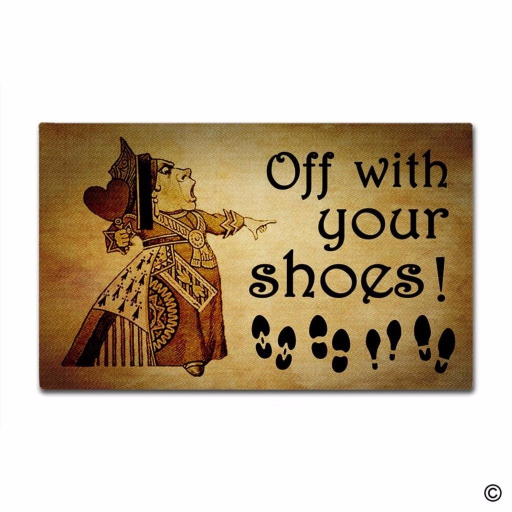 Door Mat Entrance Take Off Your Shoes Funny Floor Non-slip Doormat 18 by 30 Inch Machine Washable Non-woven Fab
