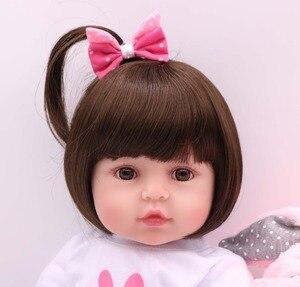 Image 3 - NPK 48cm 소프트 리얼 터치 실리콘 boneca bebes reborn 실리콘 reborn 유아 아기 인형 kids 생일 크리스마스 선물 인기