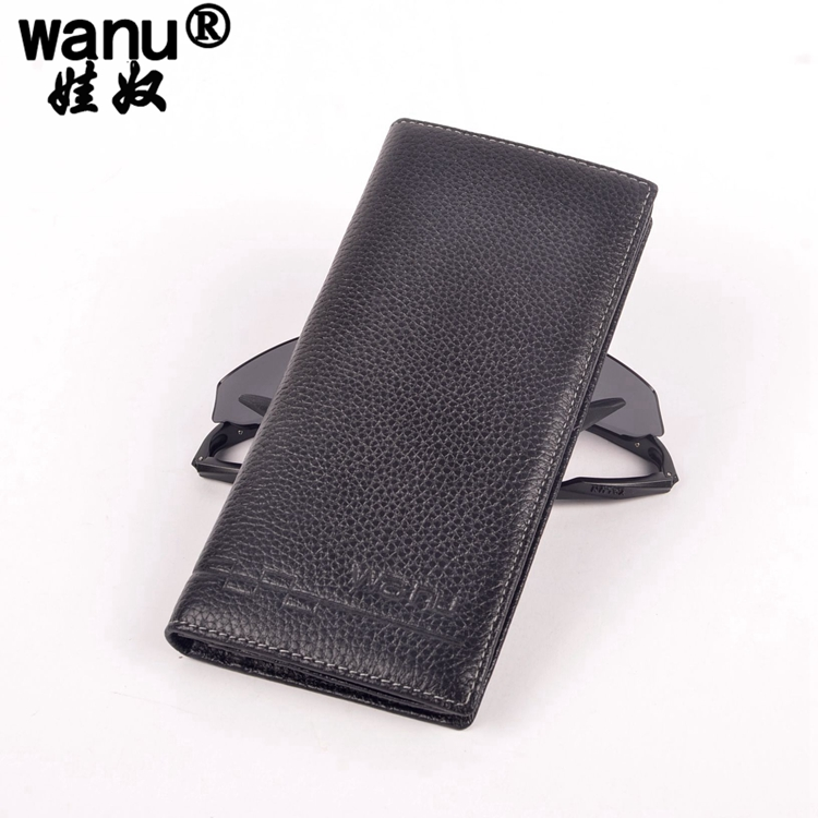 9WANU 100% Cow Leather Wallet male Wallets with Zipper Coin Bag Genuine Leather mens Wallets Small Short Purses Boy Clutch