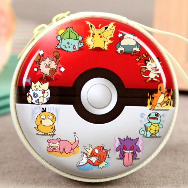 Cute Lovely Pokemon Pikachu Circular Coin Purse