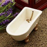 1/12 badewanne Becken Modell Pretend Spielen Bad Zubehör für Kinder Kinder 1/12 Puppenhaus Miniatur Dekoration Spielzeug