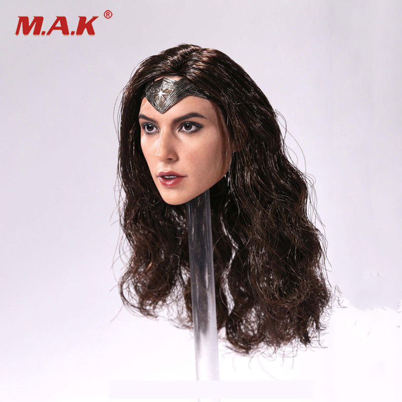 1/6 Scale Wonder Woman Female Head Sculpt Girl Gal Gadot Head For 12 inches Action Figure авто