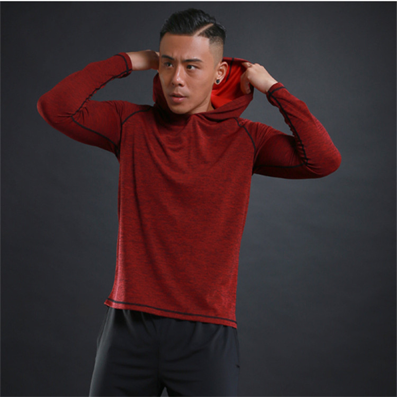 2019 Breathable New Mens Hooded Hoodies Fashion Casual Thin Male Gyms Fitness Bodybuilding Sweatshirt Sportswear Brand 3 Color