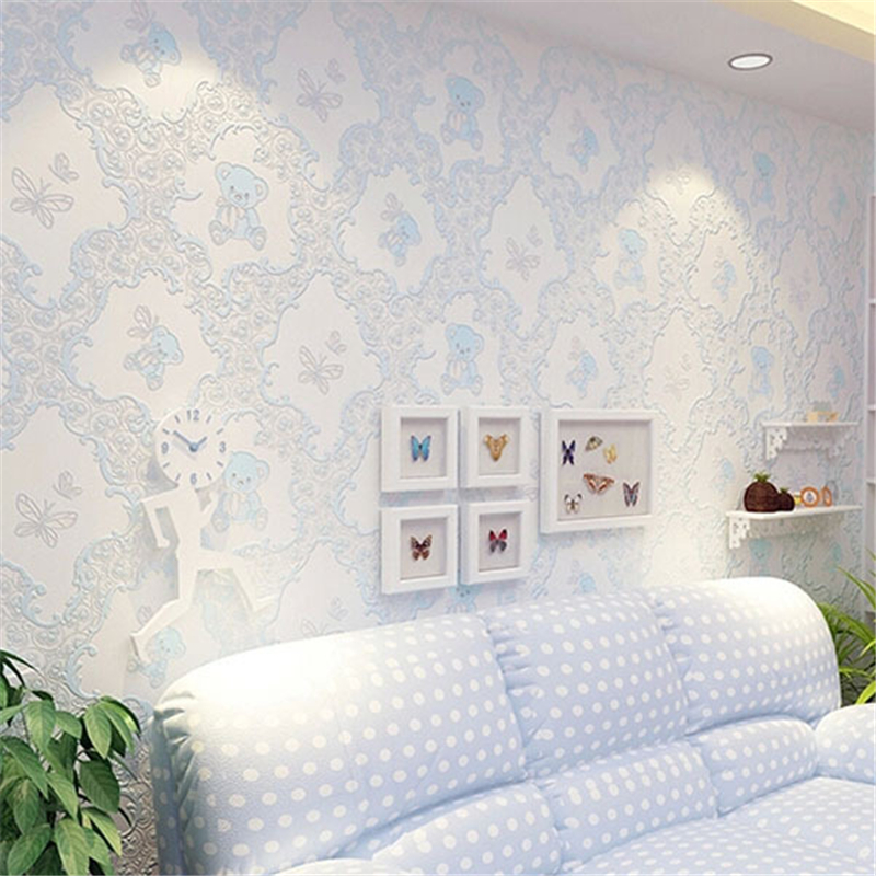 Us 29 13 27 Off Beibehang Pink Wallpaper For Kids Textured Feature White Wall Paper Roll For Child Bedroom Girls Bedroom Papel De Parede Tapete In