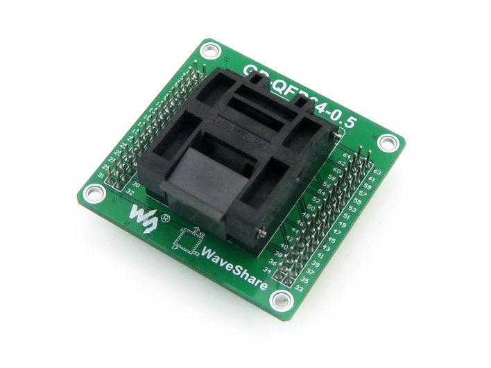 GP-QFP64-0.5 IC Test Socket Programming Adapter QFP64 TQFP64 LQFP64 Yamaichi IC51-0644-807 0.5mm Pitch