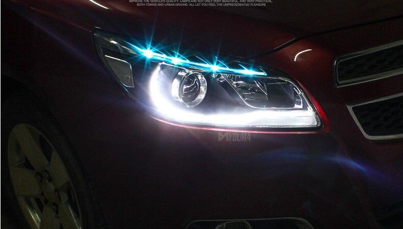 Бесплатная доставка автомобиля светодиодный налобный фонарь для Шевроле Малибу на фары с DRL H7 Ксеноновые лампы