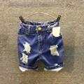 Retail 2017 children boys summer shorts jeans Kids new casual ripped holes denim shorts for Boys 3-8 years !
