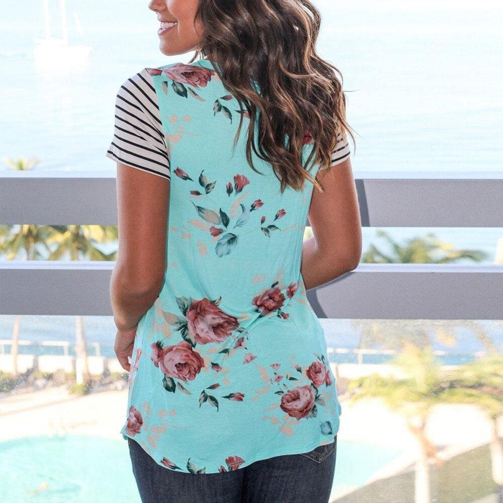 2 цвята плюс размер жена риза с къс - Дамски дрехи - Снимка 2