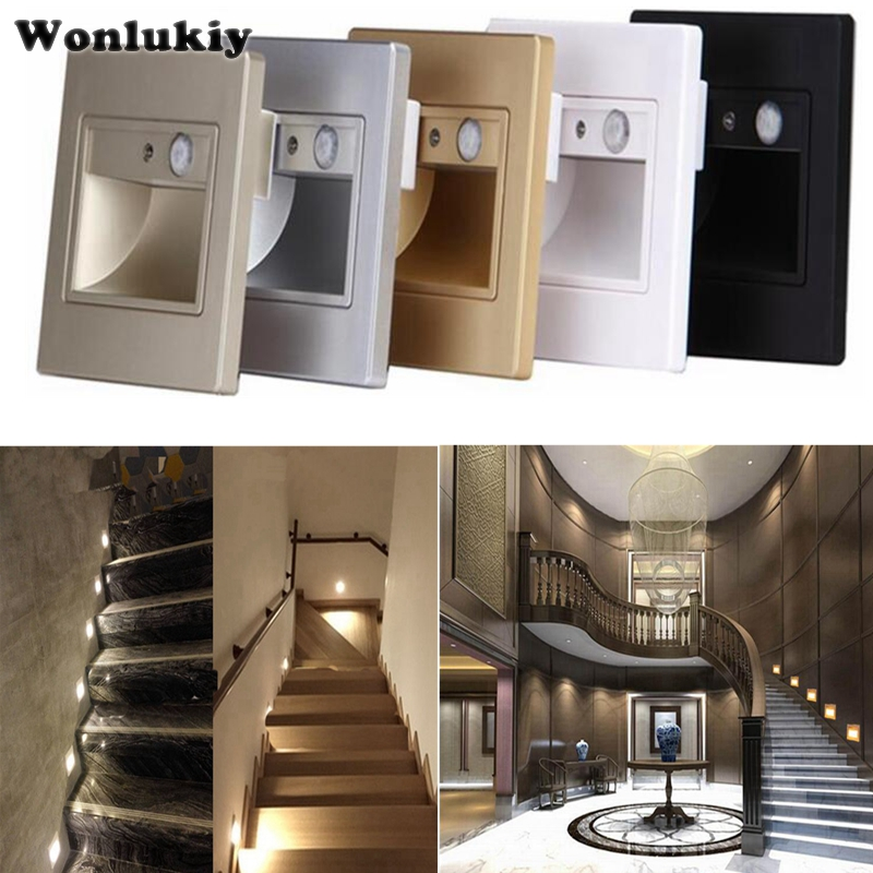 Lighting Basement Washroom Stairs: 10pcs PIR Motion Sensor Led Stair Light Infrared Human