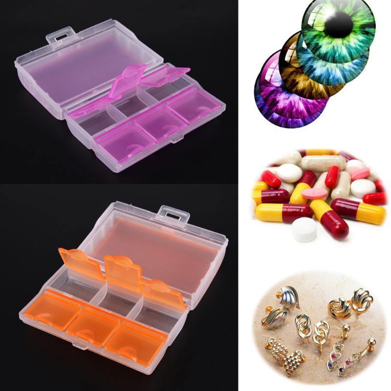 6 Days Pill Case Pill Box Travel Tablet Medicine Dual Layer 6 Compartments Dispenser Case Box Container Drug Tablet Storage