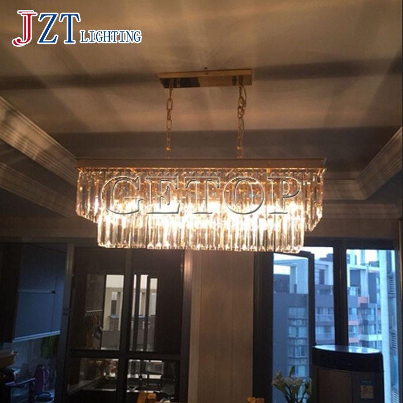 J best price art Rectangular Pendant Led Light American Candle Droplight iron Lustres light For Restaurant Dining Room bedroom