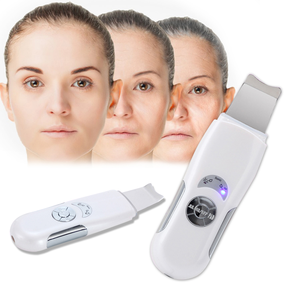 Ultrasonic Cleaner Skin Scrubber Face Cleansing Acne Removal Blackhead Acne Remover Massager Ultrasound Facial Beauty Tools peeling shovel exfoliator machine ultrasonic wave face skin scrubber blackhead acne removal facial cleaning vibration massager