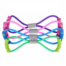 8 Resistance Bands Shaped Fitness Elastic Yoga Pull Rope Exercise Tubes Chest Harness Expander gum for Band