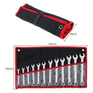 Image 2 - 12 teile/los YOFE 8mm 19mm Kombination Spanner Set Professionelle Ratsche Werkzeug für Installation/Wartung