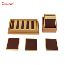 Sensory Wooden Toys Rough&Smooth Touch Tablets Boards Baby Learning Montessori Beech Wood Box Preschool Teaching Aids SE021-3