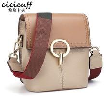 Genuine Leather Shoulder Bag Cowhide Women Messenger Bags Luxury Bucket Soft Handbags Bolsas Feminina with Wide Strap