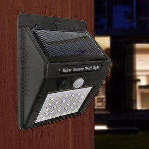 Image 3 - Güneş bahçe lambası 100 LED güneş enerjili PIR hareket sensörü lambası su geçirmez dış mekan aydınlatma dekorasyon ışıkları kablosuz duvar lambası