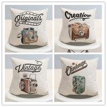 Vintage CÁMARA DE LINO algodón almohada decoración del hogar cojín/Retro decorativo silla de coche sofá cojines/cojines