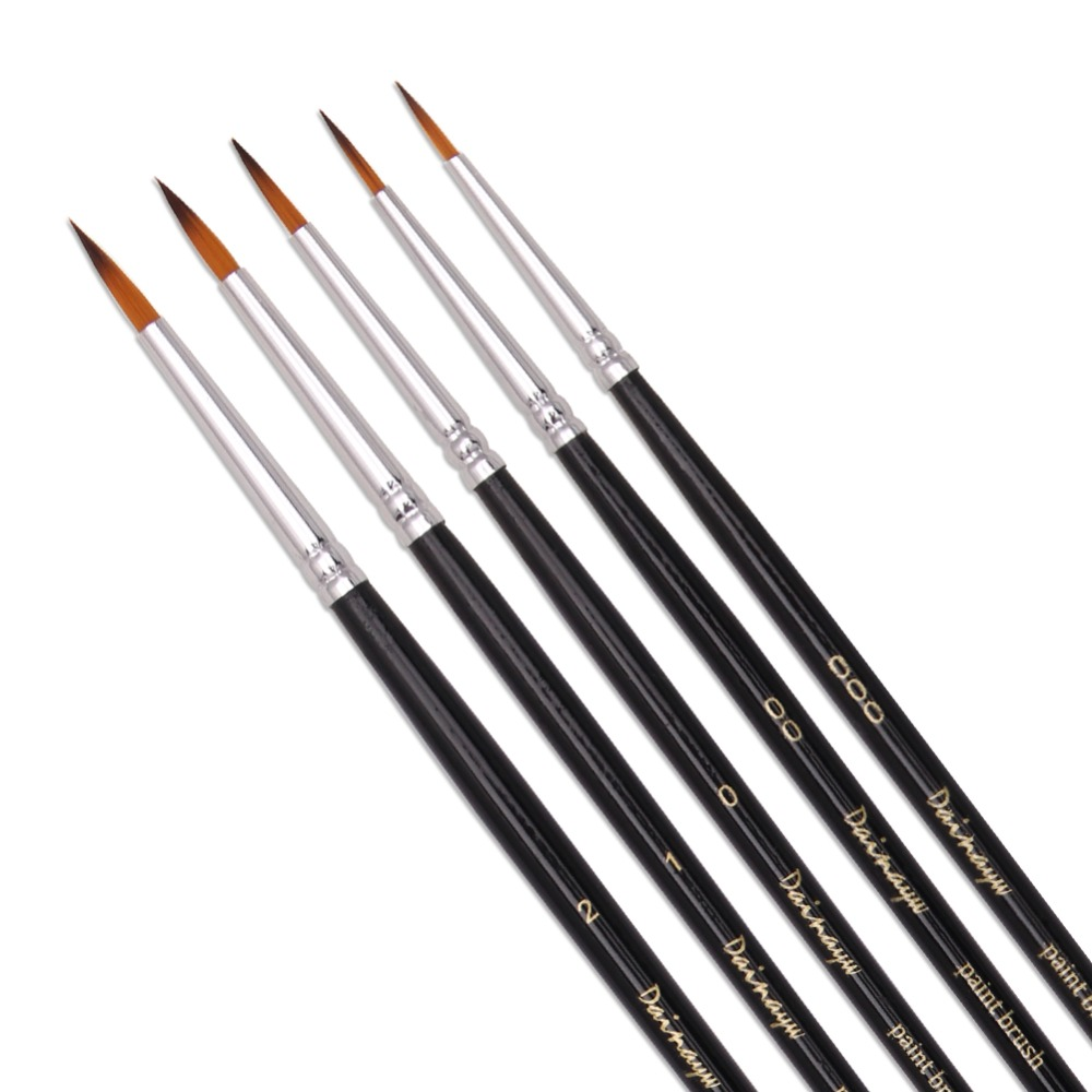 5Pcs/Set Fine Detail Brush Hand-painted Hook Line Pen Drawing Pen Art Pen Miniatures Brush Pen Refill Art Supplies