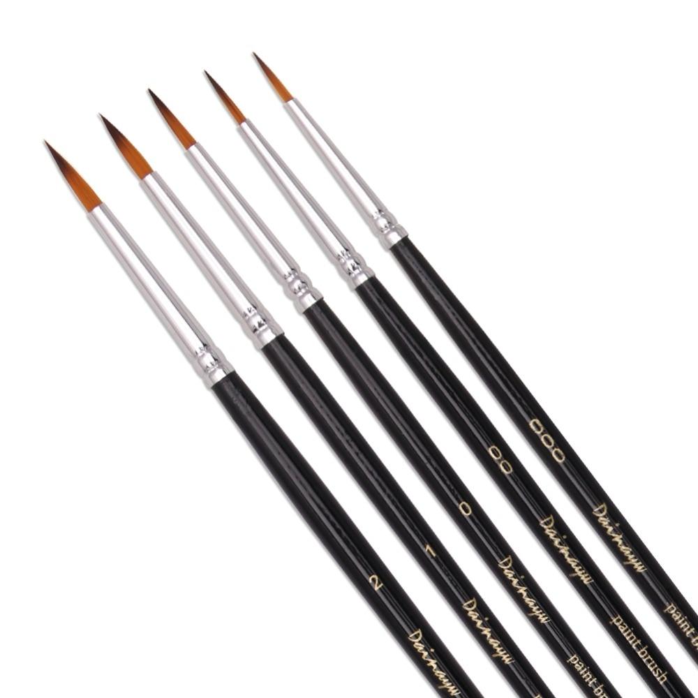 5Pcs/Set Fine Detail Brush Hand-painted Hook Line Pen Drawing Pen Art Pen Miniatures Brush Pen Refill Art Supplies