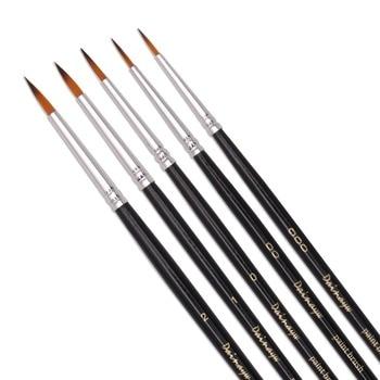 5Pcs/Set Fine Detail brush Hand-painted Hook Line Pen Drawing Art Miniatures Brush refill Supplies - discount item  21% OFF Art Supplies