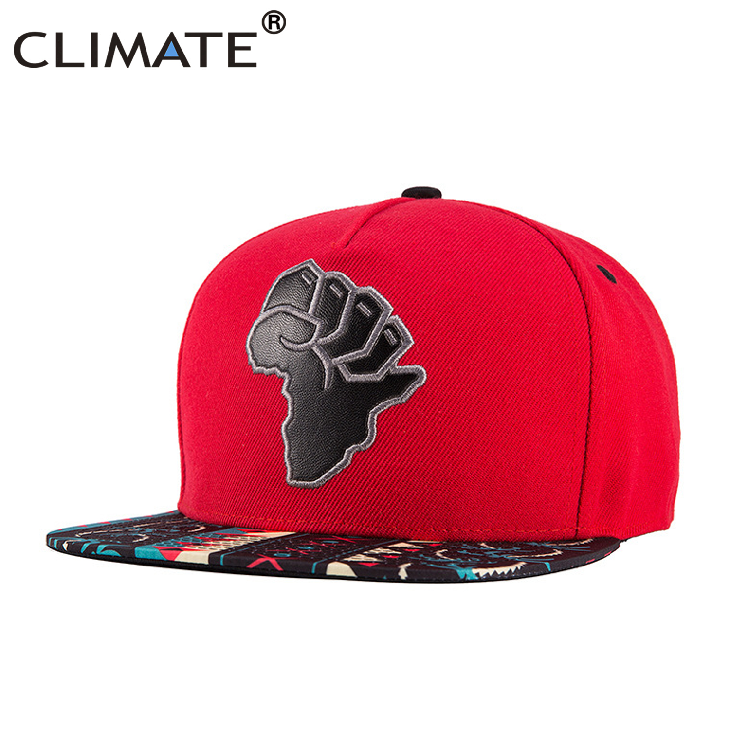 2019 Latest Design Climate African Printing Snapback Cap Hiphop Street Style Caps Rapper Africa Power Street Dancer Dance Caps Hat For Men African