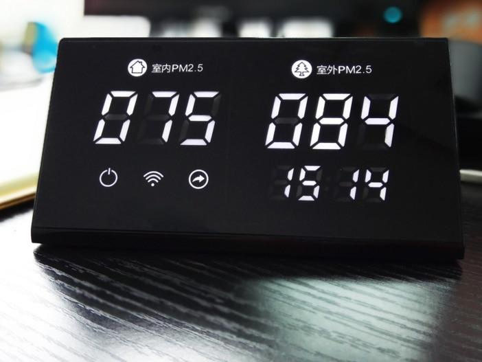 C5 intérieur et extérieur PM2.5 moniteur WIFI WeChat boutons tactiles capacitifs Laser PM2.5 détecteur, capteur de brume intérieure et extérieure