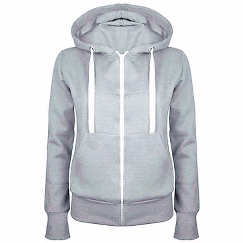 Sports Hoodies Jacket Women's Coats Outdoor Classic Spring-Zipper Gym