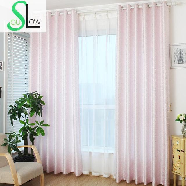 Slow Soul Pink Gold Rose Curtain Jacquard Europe Floral Curtains For Living  Room Kitchen Bedroom Roman