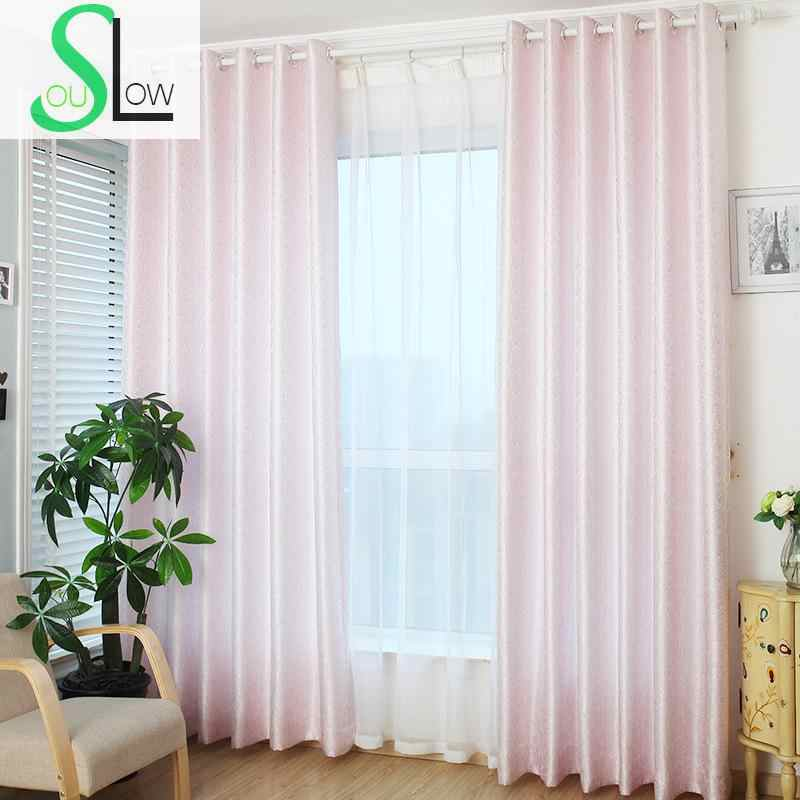 Slow Soul Pink Gold Rose Curtain Jacquard Europe Floral Curtains For Living Room Kitchen Bedroom Roman Tende Rideau Cortina Curtains For Curtains For Living Roomcurtain For Living Aliexpress